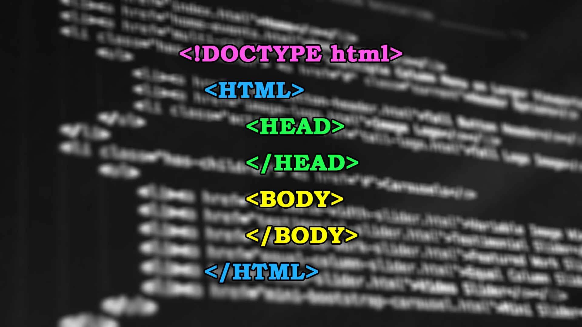 HTML oldal felépítése, HTML dokumentum struktúrája