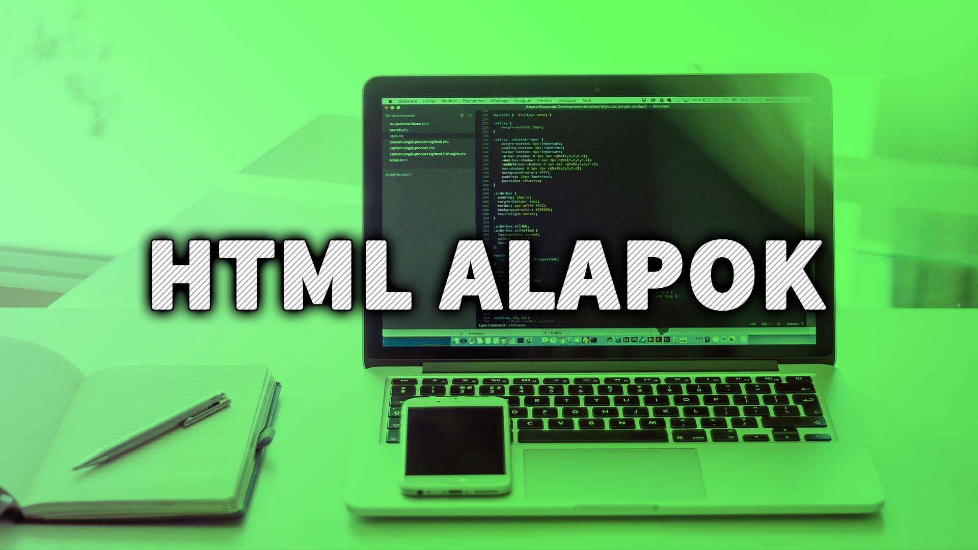 Mi az a HTML? A HTML bemutatása című cikk és a HTML szerkesztő programok nyitóképe