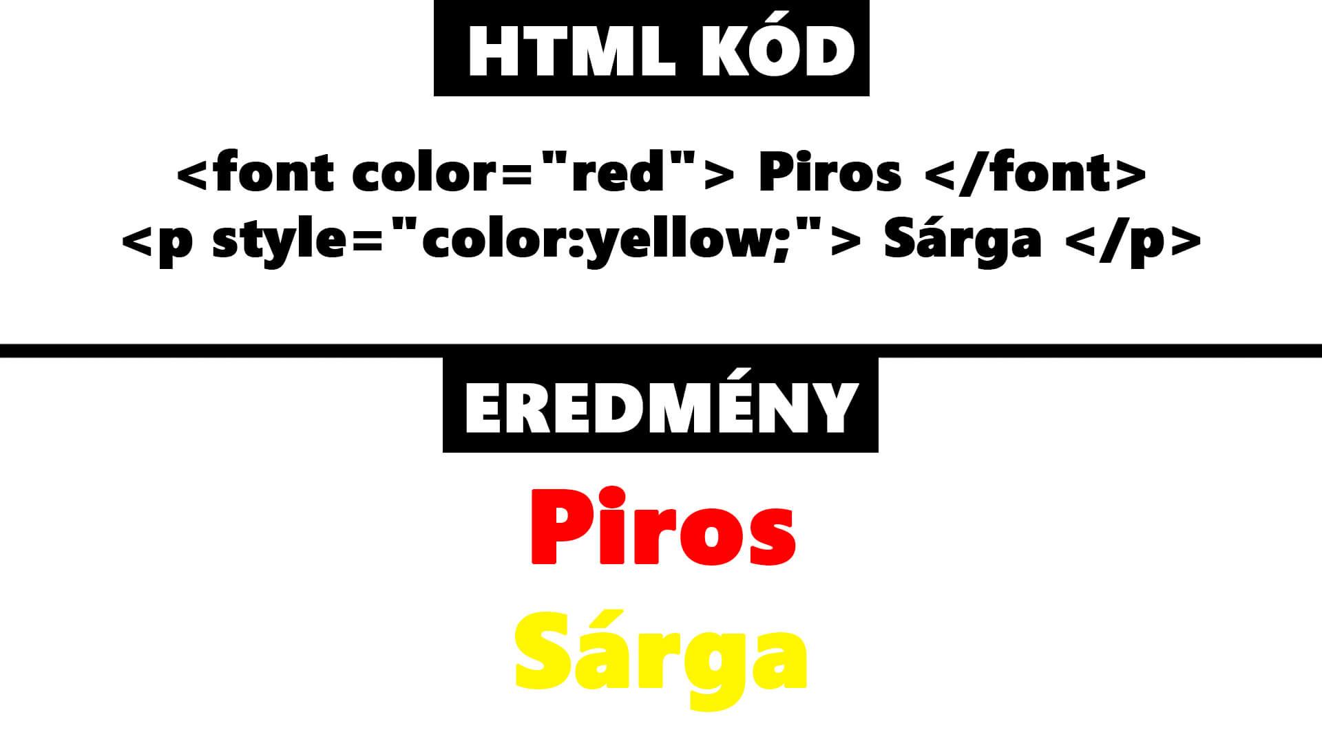HTML szövegszín, betűszín módosítása (HTML font color és color) cikk nyitóképe