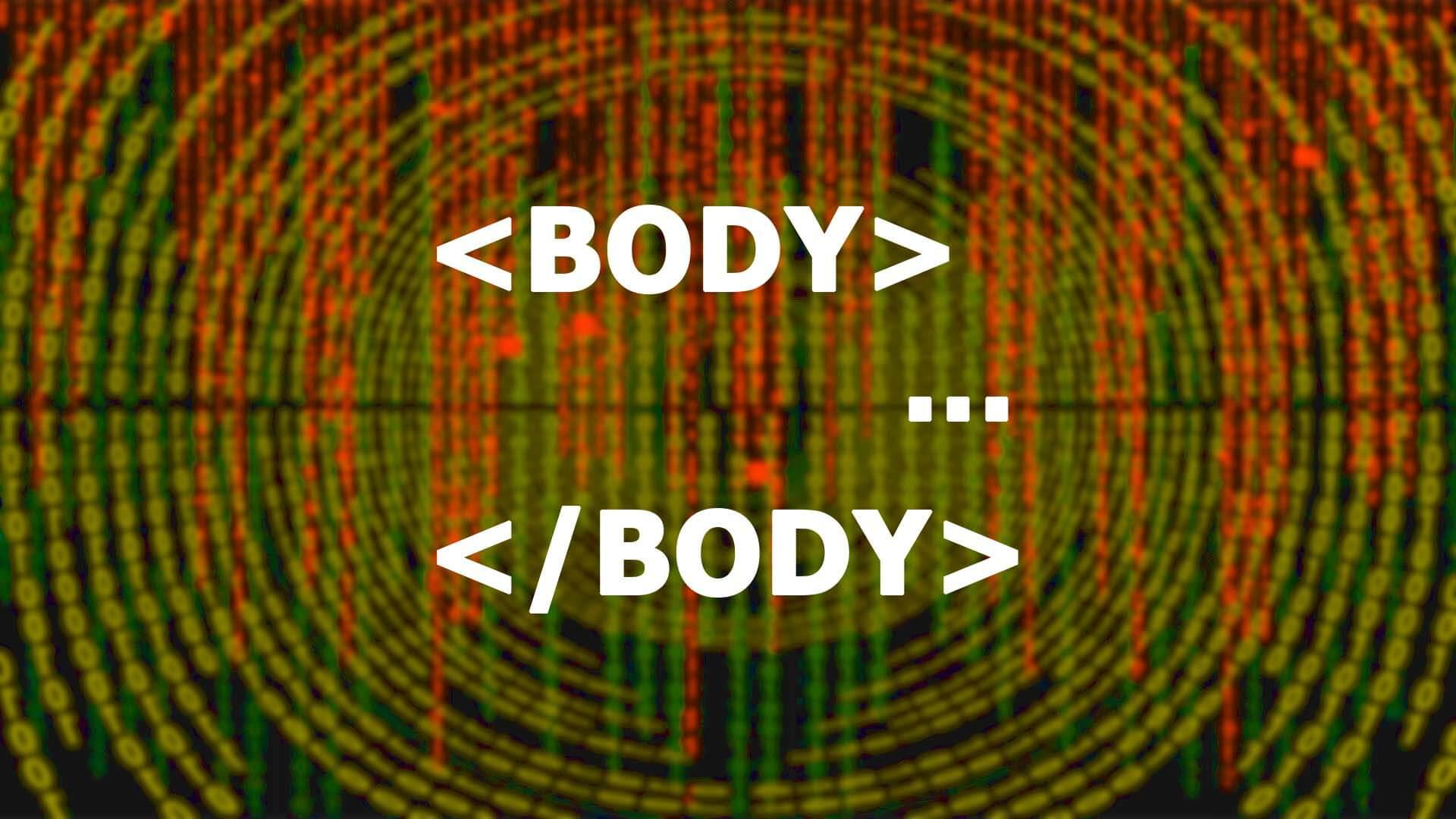 HTML body, test, törzs használatát szemléltető kép