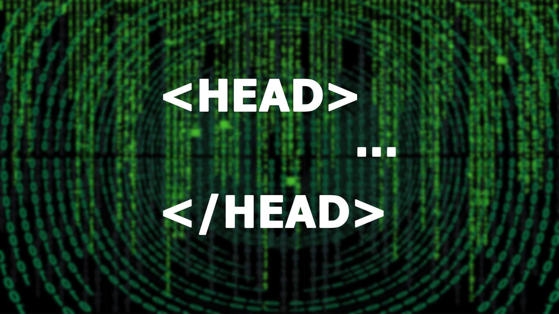 HTML head, fej használatát szemléltető kép