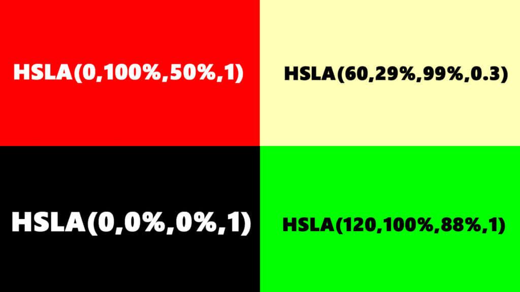 Színmegadása HSLA színkód segítségével a HTML nyelvben