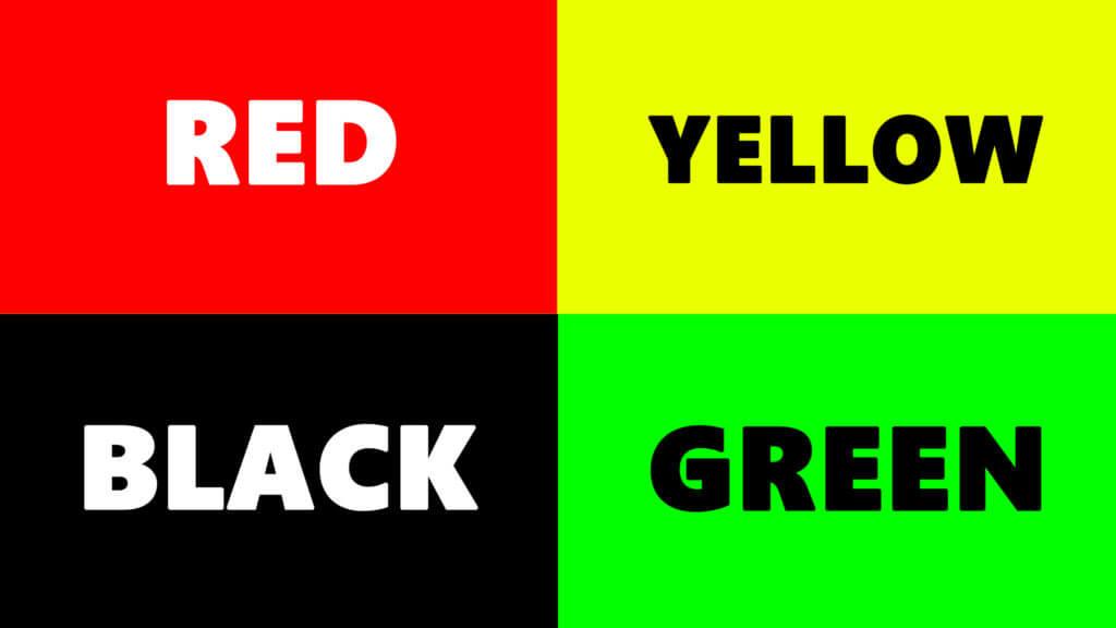 Színmegadása a szín nevével a HTML nyelvben