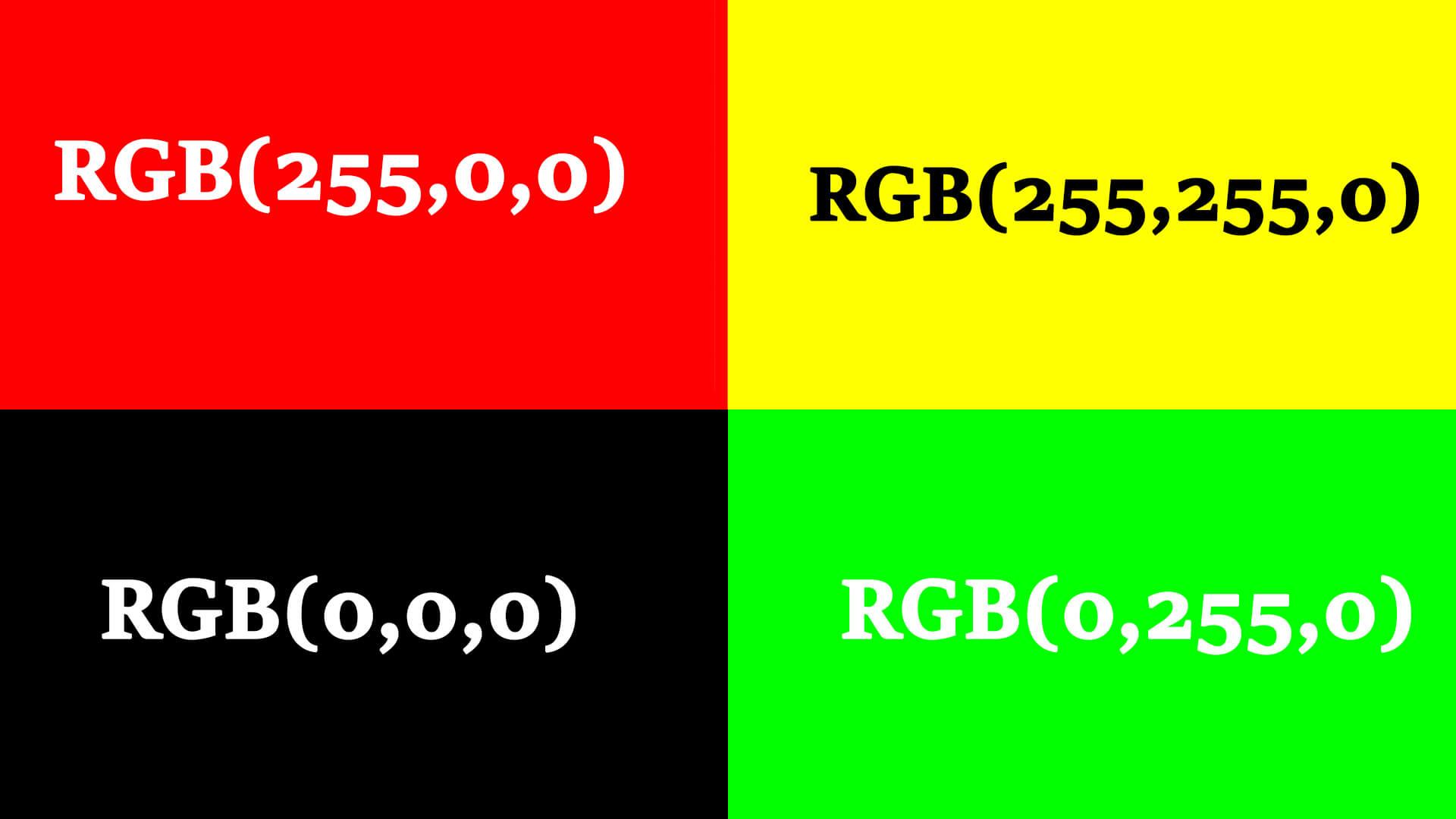 Színmegadása RGB színkód segítségével a HTML nyelvben