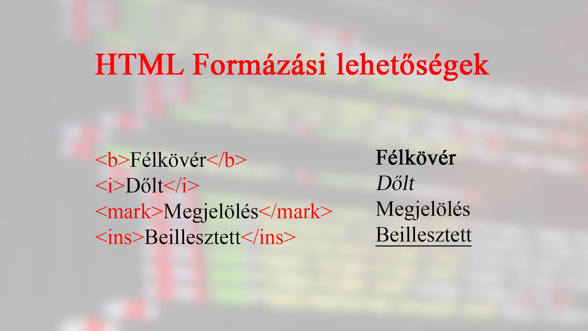 HTML szövegformázás (Formázás CSS nélkül) cikk nyitóképe